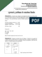Práctica Guiada - Ecuaciones Lineales