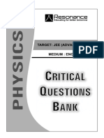 Critical Question Bank PHYSICS (English)