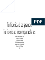 Letra Tu Fidelidad