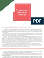 Prometeo - Tres Versiones sobre el origen del fuego