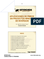 PMBOK para proyectos de inversion minera