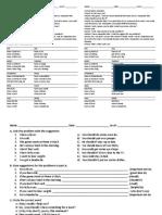 U12 Health Complaints Vocabulary and Practice