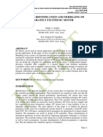 PARAMETER IDENTIFICATION AND MODELLING OF SEPARATELY EXCITED DC MOTOR