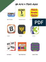 language arts   math apps for grade three