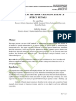 A REVIEW OF LPC METHODS FOR ENHANCEMENT OF SPEECH SIGNALS