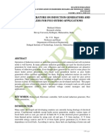 REVIEW OF LITERATURE ON INDUCTION GENERATORS AND CONTROLLERS FOR PICO HYDRO APPLICATIONS