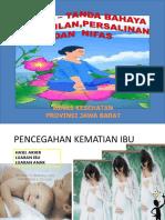 Tanda Bahaya Kehamilan Persalinan Dan Nifas 2014