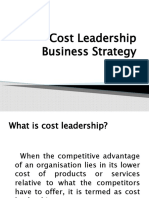 Cost Leadership Business Strategy