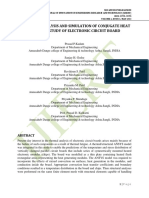 NUMERICAL ANALYSIS AND SIMULATION OF CONJUGATE HEAT TRANSFER STUDY OF ELECTRONIC CIRCUIT BOARD
