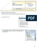 Search for Paid Invoice by Po