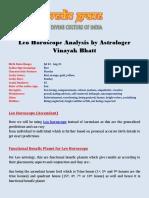 Leo Horoscope Analysis by Astrologer Vinayak Bhatt
