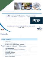 MSC STATUS CYBER CENTRE PRESENTATION
