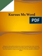 Microsoft Word Kursus Di Pegasus
