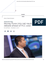 Money Flows Into Net Neutrality Debate Ahead of FCC Vote