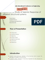 Experemental Study of Seismic Response of Structure With Different Structural Systems Final [Autosaved]
