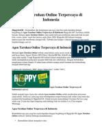 Agen Taruhan Online Terpercaya Di Indonesia