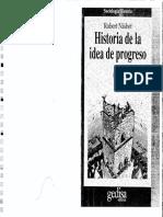 Nisbet - Historia de la idea de progreso