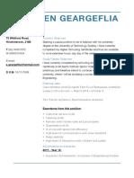 stephen geargeflia resume
