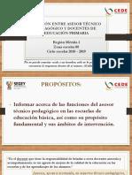 Presentación de funciones del ATP para docentes