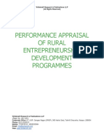 Performance Appraisal of Rural Entrepreneurship Development Programmes [www.writekraft.com]