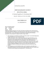 Contoh Surat Peringatan Tidak Masuk Kerja Untuk PNS