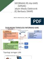 Sistem Informasi Rumah Sakit - SIRSAK Pitselnas 29 Agustus 2018