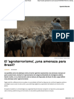 El 'Agroterrorismo', ¿Una Amenaza Para Brasil_ - Sputnik Mundo