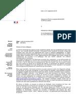 Lettre de Rentrée. Lettres 2018
