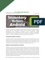 Aplikasi Inventory Berbasis Android