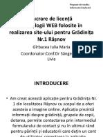 Lucrare de Licență-Tehnologii WEB Folosite În Realizarea Site-ului Pentru Grădinița Nr.1 Râșnov