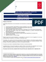 HA2018 Applicant Guide Conservation EUPrize
