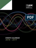 RIAM Events Calendar 2018 - 2019