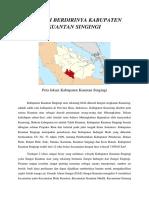 Sejarah Berdirinya Kabupaten Kuantan Singingi
