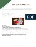 Doces Choco-café Áustria