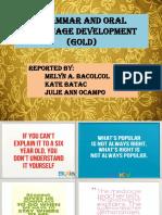 Grammar and Oral Language Development (GOLD)