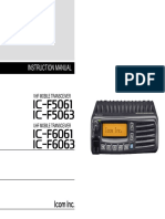 Manual Radio ICOM ICF5061