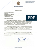 2018-09-20 Feinstein to Grassley - July 30 Letter From Ford