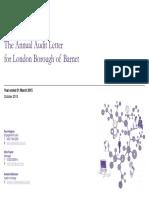 Barnet London Borough Council Annual Audit Letter 2014/15 - Grant Thornton