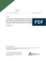 Correlation Paleogeography and Provenance