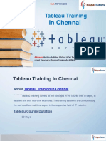 Tableau Training in Chennai