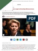 Millionenschwere Bundeswehr-Aufträge Rechtswidrig Vergeben