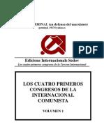 Cuatro Primeros Congresos Internacional Comunista Volumen 1