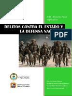 Titulo Xv Delitos Contra El Estado y La Defensa Nacional