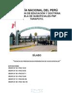 Asignatura Tec.prev e Inv en Casos Esp