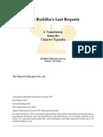 Buddha's Last Bequest