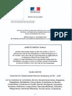 Arrete Prefectoral autorisation unique GCO