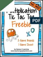 MultiplicationFreeMultiplicationFactsTicTacToeMultiplicationGames.pdf