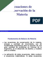 Mecánica de fluidos, conservación de masa