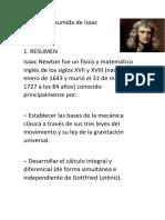 Biografía Resumida de Isaac Newton