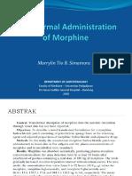 Transdermal Morphine - Marrylin - Print